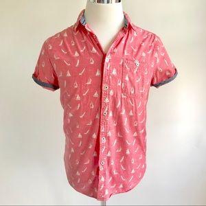 Cactus Menswear Nautical Button Down Shirt